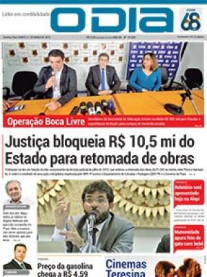 Jornal O Dia - Justiça bloqueia R$ 10,5 mi do Estado para retomada de obras 245 s