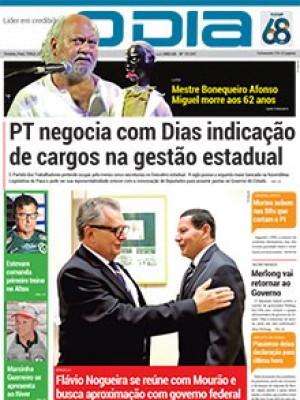 Jornal O Dia - PT negocia com Dias indicação de cargos na gestão estadual