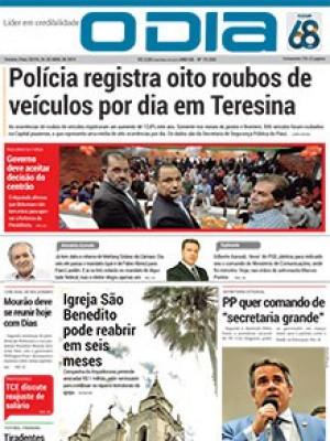 Jornal O Dia - Polícia registra oito roubos de veículos por dia em Teresina