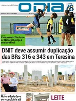 Jornal O Dia - DNIT deve assumir duplicação das BRs 316 e 343 em Teresina