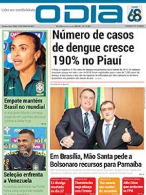 Jornal O Dia - Número de casos de dengue cresce 190% no Piauí