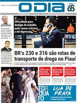 Jornal O Dia - BR's 230 e 316 são rotas de transporte de droga no Piauí