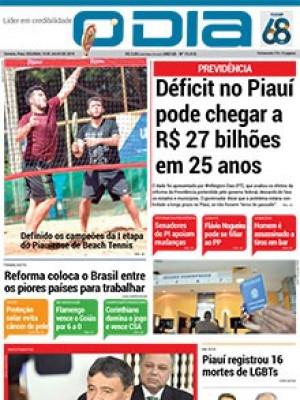 Jornal O Dia - Déficit no Piauí pode chegar a R$ 27 bilhões em 25 anos