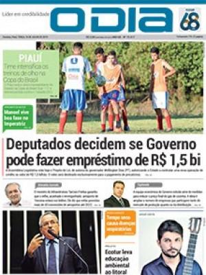 Jornal O Dia - Deputados decidem se Governo pode fazer empréstimo de R$ 1,5 bi