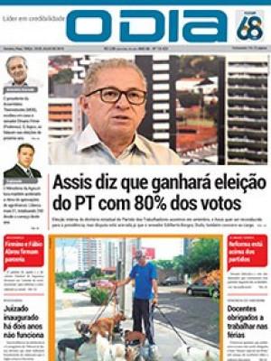 Jornal O Dia - Assis diz que ganhará eleição do PT com 80% dos votos