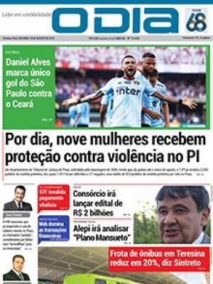 Jornal O Dia - Por dia, nove mulheres recebem proteção contra violência no PI
