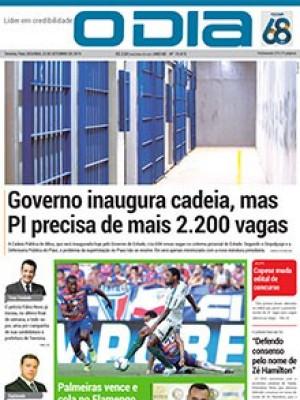 Jornal O Dia - Governo inaugura cadeia, mas PI precisa de mais 2.200 vagas