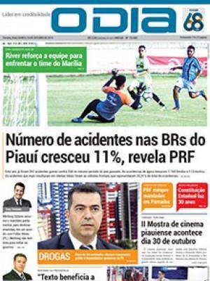 Jornal O Dia - Número de acidentes nas BRs do Piauí cresceu 11%, revela PRF