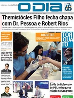Jornal O Dia - Themistócles Filho fecha chapa com Dr. Pessoa e Robert Rios