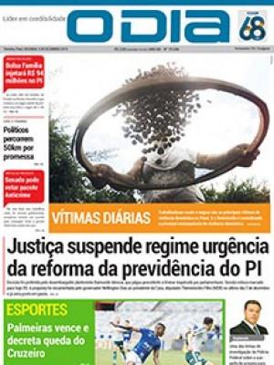 Jornal O Dia - Justiça suspende regime urgência da reforma da previdência do PI
