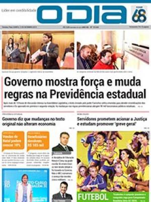 Jornal O Dia - Governo mostra força e muda regras na Previdência estadual