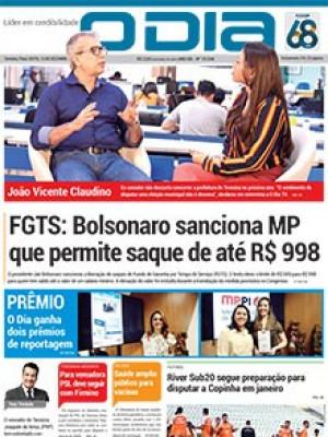 Jornal O Dia - FGTS: Bolsonaro sanciona MP que permite saque de até R$ 998