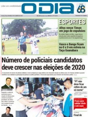 Jornal O Dia - Número de policiais candidatos deve crescer nas eleições de 2020