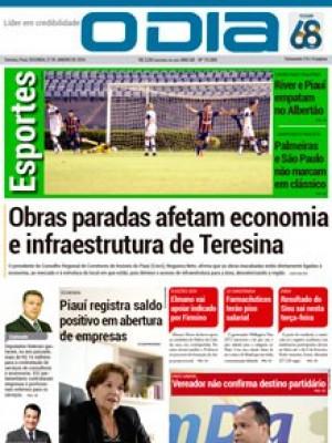 Jornal O Dia - Obras paradas afetam economia e infraestrutura de Teresina