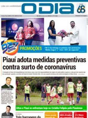 Jornal O Dia - Piauí adota medidas preventivas contra surto de coronavírus
