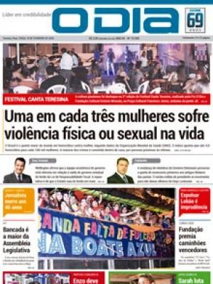 Jornal O Dia - Uma em cada três mulheres sofre violência física ou sexual na vida