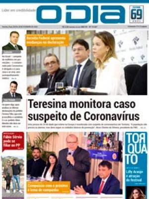 Jornal O Dia - Teresina monitora caso suspeito de Coronavírus