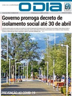 Jornal O Dia - Governo prorroga decreto de isolamento social até 30 de abril