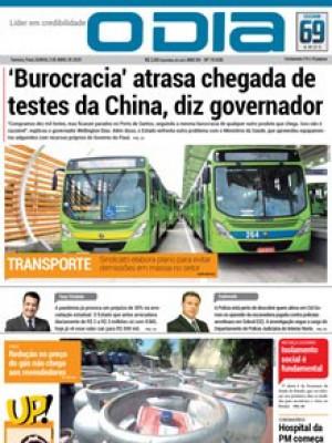 Jornal O Dia - 'Burocracia' atrasa chegada de testes da China, diz governador