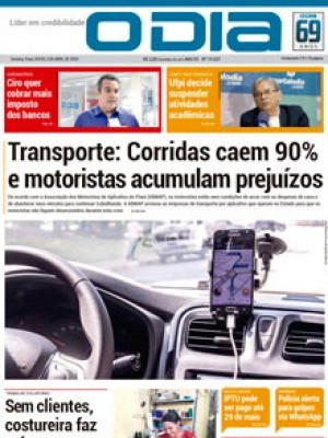 Jornal O Dia - Transporte: Corridas caem 90% e motoristas acumulam prejuízos