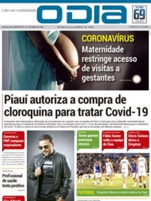 Jornal O Dia - Piauí autoriza a compra de  cloroquina para tratar Covid-19