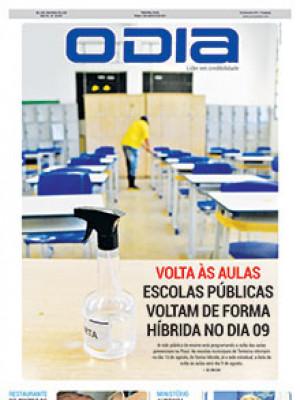 Jornal O Dia - Volta às aulas Escolas públicas voltam de forma híbrida no dia 09