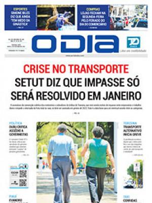 Jornal O Dia - Crise no transporte SETUT diz que impasse só será resolvido em janeiro