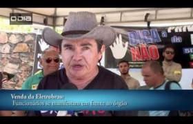 Funcionários fazem paralisação contra venda da Eletrobras