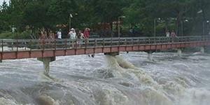 Ponte da Cachoeira do Urubu é liberada após Rio Longá baixar