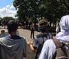 PM e estudantes da UnB entram em confronto na Esplanada