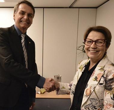 Bolsonaro sai em defesa de Tereza Cristina, indicada para Agricultura