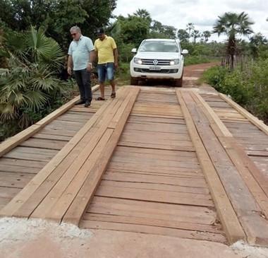 Ponte que liga para localidade Cana Doce teve recuperação concluída