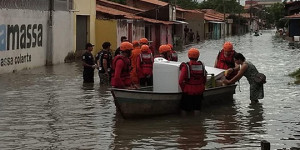 Chove em quatro dias o dobro do esperado para março em Parnaíba; 104 desabrigados