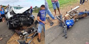 Motociclista morre ao colidir com um carro na BR-230, próximo a cidade de Oeiras