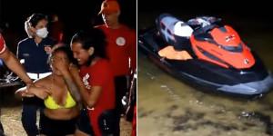 Mulher desaparece após acidente com jet ski na Lagoa do Portinho
