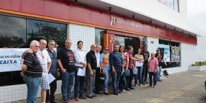 Bancários de Teresina fazem manifestação contra MP 905 nesta sexta-feira