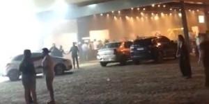 Correria e tensão durante incêndio em churrascaria na cidade de Parnaíba
