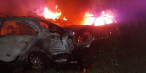 Incêndio atinge cerca de 50 veículos na antiga Delegacia da cidade de Picos