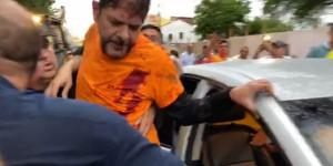 Veja o vídeo! Cid Gomes é baleado ao tentar invadir quartel em Sobral (CE)