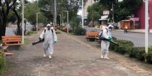 Espaços públicos de Teresina são sanitarizados por prevenção ao Covid-19