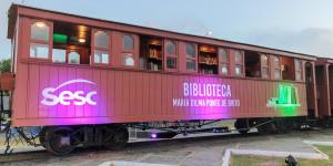Parnaíba ganha biblioteca-trem com mais de mil livros