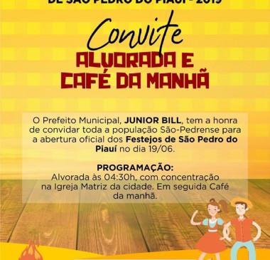 Festejo de São Pedro do Piauí começa nesta quarta-feira (19)