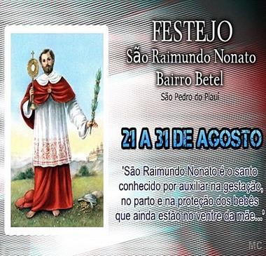 Festejo do bairro Betel inicia-se próximo quarta (21)