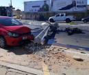 Por dia, seis postes da rede elétrica são derrubados em acidentes de trânsito