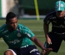 Sem Gómez, Verdão treina posse de bola e tem volta de Angulo