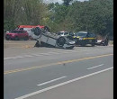 Semi-reboque desprende de veículo e provoca acidente na BR 343