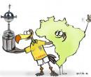 Confira a charge de Jota A publicada na edição desta segunda do Jornal O Dia