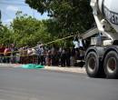 Acidente com moto e caminhão deixa uma pessoa morta e outra ferida no Dirceu