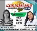 Secretária de saúde concede entrevista na Rádio Comunitária Progresso FM