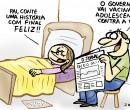 Confira a charge de Jota A publicada neste final de semana no Jornal O Dia